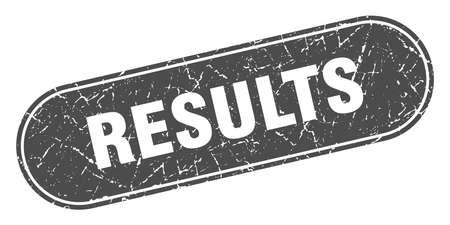 results sign. results grunge black stamp. Label