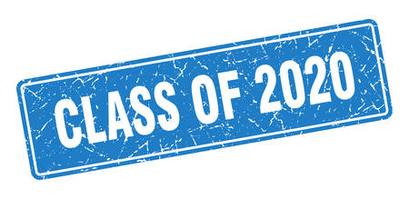 class of 2020 stamp. class of 2020 vintage blue label. Sign