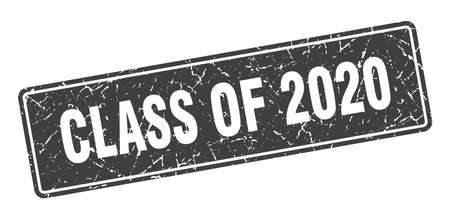 class of 2020 stamp. class of 2020 vintage gray label. Sign