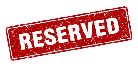 reserved stamp. reserved vintage red label. Sign