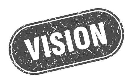 vision sign. vision grunge black stamp. Label Ilustracja