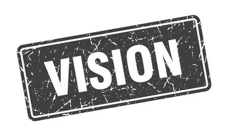 vision stamp. vision vintage gray label. Sign