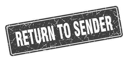 return to sender stamp. return to sender vintage gray label. Sign Stock Illustratie
