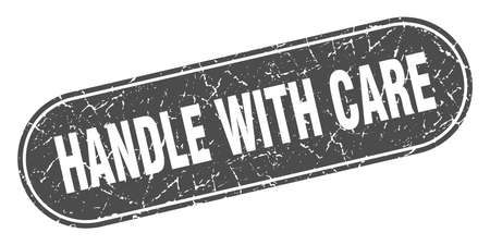 handle with care sign. handle with care grunge black stamp. Label