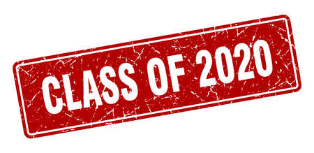 class of 2020 stamp. class of 2020 vintage red label. Sign 向量圖像