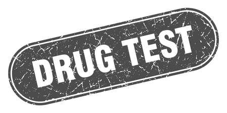 drug test sign. drug test grunge black stamp. Label
