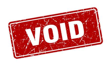 void stamp. void vintage red label. Sign