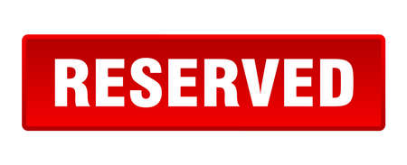 reserved button. reserved square red push button