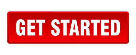 get started button. get started square red push button