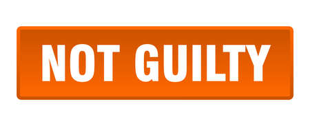 not guilty button. not guilty square orange push button  イラスト・ベクター素材