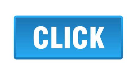 click button. click square blue push button