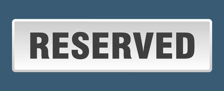 reserved button. reserved square white push button 向量圖像