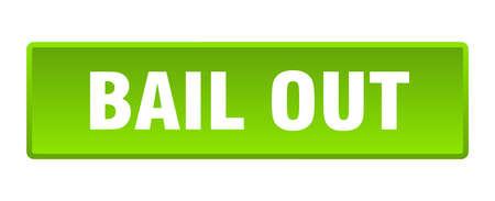 bail out button. bail out square green push button Vecteurs