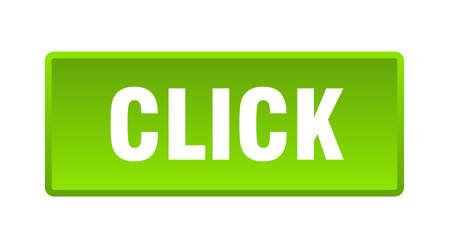 click button. click square green push button 向量圖像
