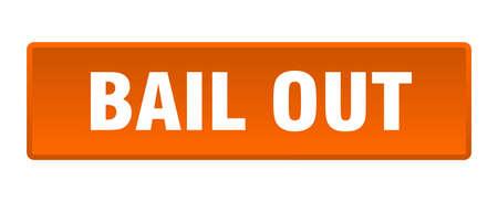 bail out button. bail out square orange push button