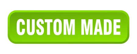 custom made button. custom made square 3d push button 向量圖像