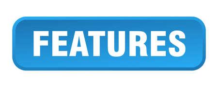 features button. features square 3d push button
