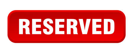reserved button. reserved square 3d push button