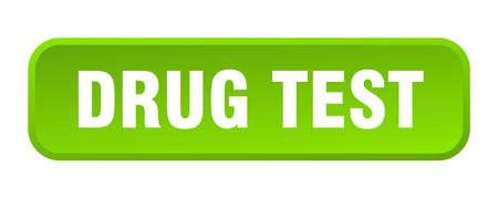 drug test button. drug test square 3d push button