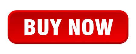 buy now button. buy now square 3d push button Vector Illustratie