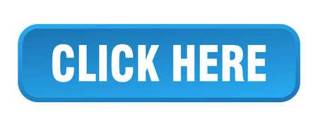 click here button. click here square 3d push button
