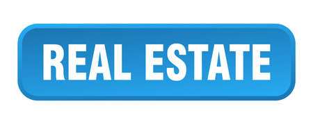 real estate button. real estate square 3d push button