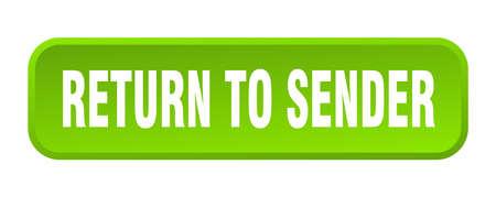 return to sender button. return to sender square 3d push button