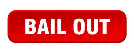 bail out button. bail out square 3d push button Vecteurs