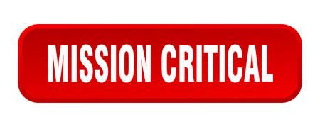 mission critical button. mission critical square 3d push button