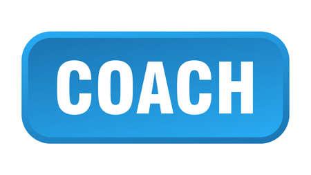 coach button. coach square 3d push button