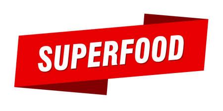 superfood banner template. superfood ribbon label sign Ilustracja
