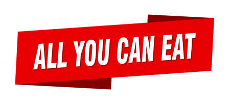 all you can eat banner template. all you can eat ribbon label sign 向量圖像