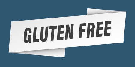 gluten free banner template. gluten free ribbon label sign