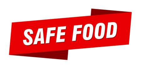 safe food banner template. safe food ribbon label sign Ilustracja