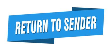 return to sender banner template. return to sender ribbon label sign