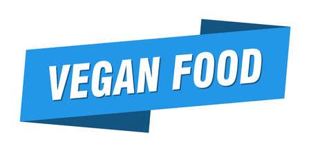 vegan food banner template. vegan food ribbon label sign