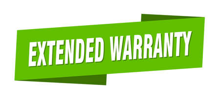 extended warranty banner template. extended warranty ribbon label sign Illustration