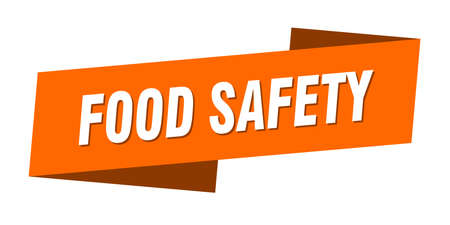 food safety banner template. food safety ribbon label sign Ilustracja