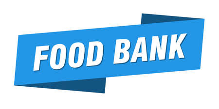 food bank banner template. food bank ribbon label sign Ilustracja