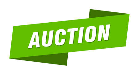 auction banner template. auction ribbon label sign