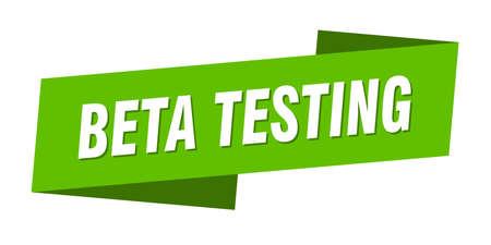 beta testing banner template. beta testing ribbon label sign