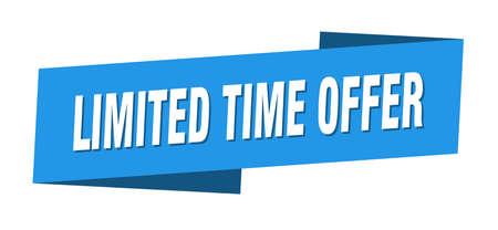limited time offer banner template. limited time offer ribbon label sign Vektoros illusztráció