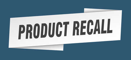 product recall banner template. product recall ribbon label sign