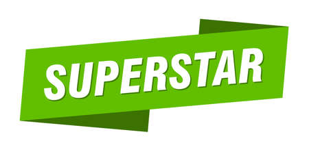 superstar banner template. superstar ribbon label sign