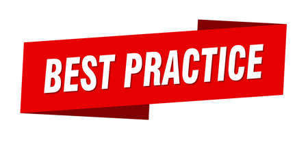 best practice banner template. best practice ribbon label sign