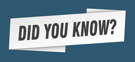 did you know banner template. did you know ribbon label sign