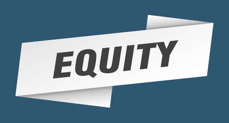 equity banner template. equity ribbon label sign