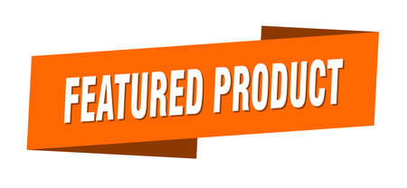featured product banner template. featured product ribbon label sign