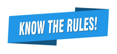 know the rules banner template. know the rules ribbon label sign