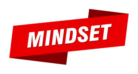 mindset banner template. mindset ribbon label sign